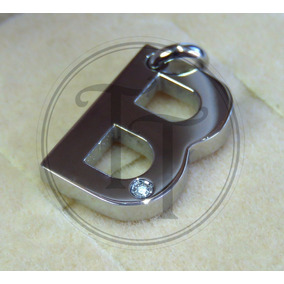 Collar Letra B En Titanio 18k Morellato Diamante 3 Pts