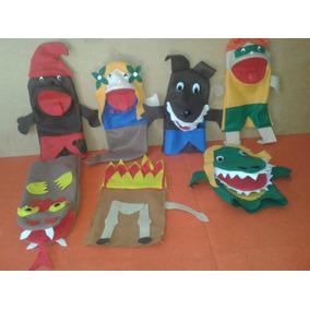 Conjunto De Fantoches Folclore Brasileiro