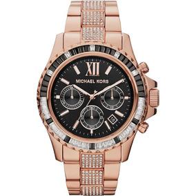 fabfe2679449d Relogio Michael Kors Feminino Rose Preto Mk5875 De Luxo - Relógios ...