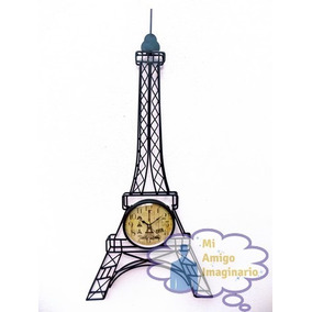 Torre Eiffel Paris Metal Reloj De Pared Vintage Clasic