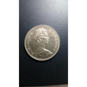 Dollar Canadense De Prata 1968 Perfeito Estado