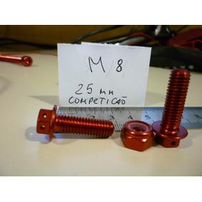 Parafuso Aluminio M8 X 25 Mm De Competiçao Vermelho