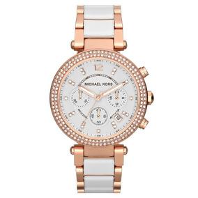 bf7fd92799183 Relogio Mk Rose E Branco - Relógios De Pulso no Mercado Livre Brasil