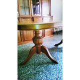 Juego De Comedor Roble Estilo Ingles Mesa+cristalero S/silla