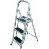 Escalera Metalica Plegable 3 Escalon Familiar Tijera No Alum