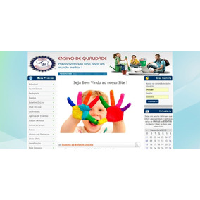 f0ed12fbbb Site De Escolas Completo Em Php + Mysql Com Boletim Escolar ...