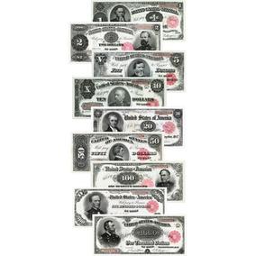 Lote 09 Réplicas Cédulas Dollares Treasury Note 1891