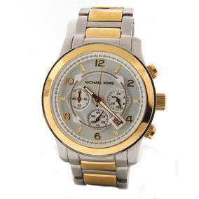 Relógio Luxo Michael Kors Mk8283 Orig Chron Anal Gold Silver 7ff8da0282