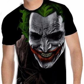 Camisa De Malha 100% Poliéster Liga Da Justiça (coringa 07) 1c8271fab0a
