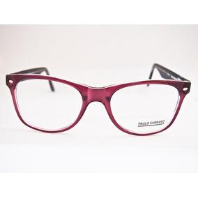 Armação Para Óculos Acetato Paulo Carraro Grande Mod6015