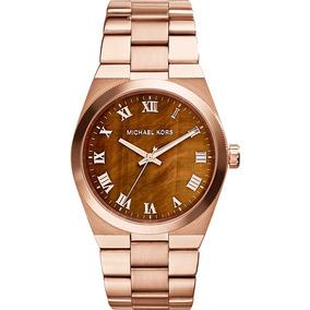 Relogio Michael Kors Rosé Com Fundo Marinho De Luxo - Relógios De ... 45075ab65b