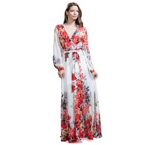 Maxi Vestido Ark & Co. Con Estampado Floral En Rojo