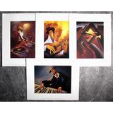 Posters Musicales Jazz- 25,0 X 20,5 Cm C/u - Caricaturas (4)
