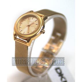 Reloj Dkny Ny8554 Elegante Color Dorado Para Dama.