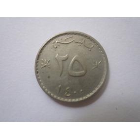 Oman Omã Moeda 25 Baisa 1980