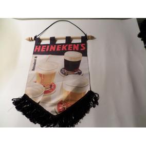 Flamula Da Cerveja Heineken Peça Rara P/ Colecionadores