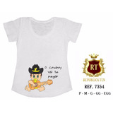 Camiseta Gestante Bebê Na Barriga Violão E Chapeu T-shirt ed27f737176