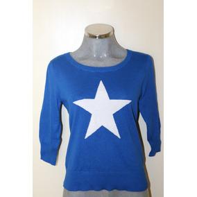 Sweater Azul Smudge - Rebajado 35% Del Precio En Tienda