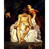Jesus Cristo Falecido Com Anjos 1864 Pintor Manet Tela Repro
