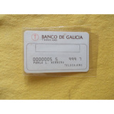 2259-vieja Tarjeta Banco Galicia Telecajeros De Extraccion