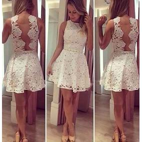 a35f495204 Vestido Detalhe Tule E Renda Branco - Vestidos Femininas Magenta em Goiânia  no Mercado Livre Brasil