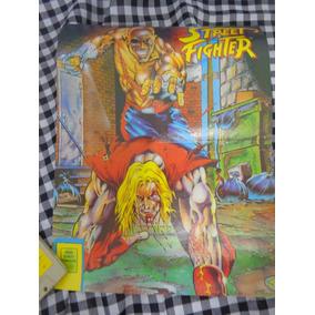 Poster Raro Do Jogo Street Fighter Em 2 Páginas