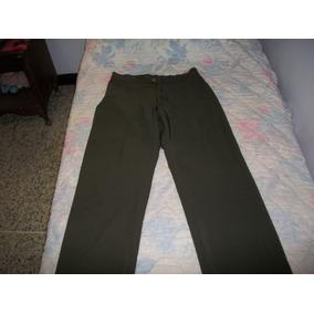 Pantalon Casual Color Marron Talla S