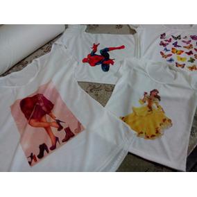 25 Camisetas Para Sublimação 100% Poliéster Por 249,00 R$