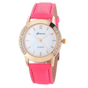 5c27e0281cd Relógio Feminino Geneva Vermelho Com Strass - Relógios De Pulso no ...