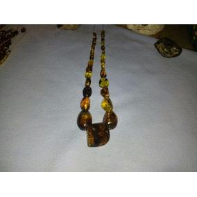 Collar De Ambar Original Diseño Estetico Elegante Y Sencillo