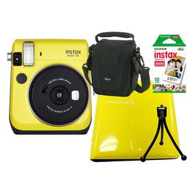 Câmera Instant. Fujifilm Instax Mini 70 + 4 Acess. - Amarela
