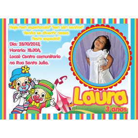 Arte Digital Para Convites C/foto Infantil Envio Gratis
