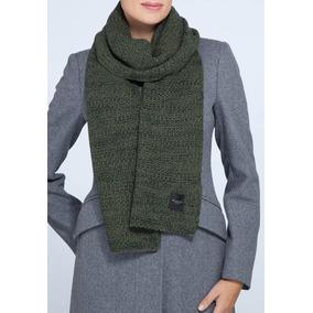 Bufanda Tejida En Crochet · Bufanda Selected Verde Musgo Nueva Tejido 30%  Lana 929afea2627