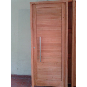 Puerta madera machimbre aberturas en mercado libre argentina for Modelos de puertas de madera para frente
