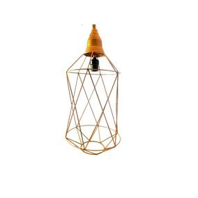 Lámpara Vintage Industrial Corte Diamante Cobre