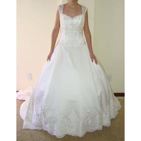 Vestido De Noiva 40 Marfim Princesa Pronta Entrega - Vn00028
