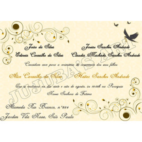 Mini Convite Individual Casamento Para Imprimir Arte E Artesanato