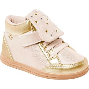Tênis Sneaker Infantil Dourado Tachinhas Pampili