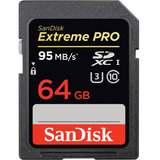 Cartão Memória Lacrado 64gb Sdxc Sandisk Extremepro 95mb C10