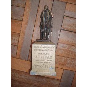 Alcancia Antigua Del Brou 1964 Artigas En Bronce Vendo Ya--