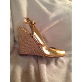 Sandália Dourada Schutz
