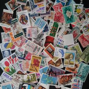 Lote Com 100 Selos Diferentes Dos Estados Unidos