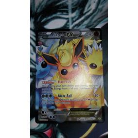 Carta Pokemon Tcg Flareon Ex Em Inglês