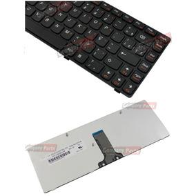 Teclado Lenovo V470 G475 B470 G470 25-011647 Br Com Moldura