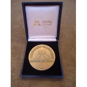 Itaípú - Medalha Da Inauguração Da Usina Em 1984