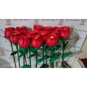 Dia Das Mães Lembrança Rosa C/ Bombom Kit C/10 Unidades