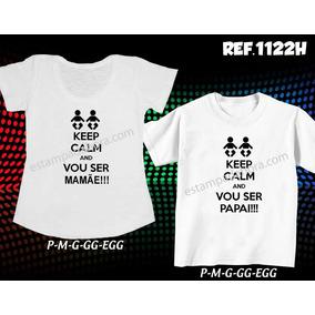 Camiseta Vou Ser Pai Camisetas Manga Curta No Mercado Livre Brasil
