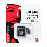Cartão De Memória Kingston 8gb Micro Sd 2x1