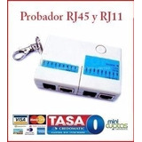 Probador Cable Rj45 Lan Rj11 Cat5 Red Red Mini Cable Pc Wan