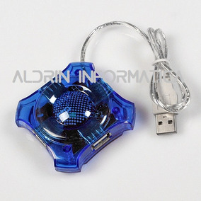 Hub 4 Portas Usb Azul - Aldrin Informatica